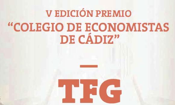 """Convocada la V Edición del Premio """"Colegio de Economistas de Cádiz al mejor TFG"""""""