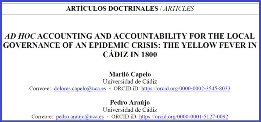 Premio de Historia de la Contabilidad a nuestros profesores Mariló Capelo y Pedro Araújo
